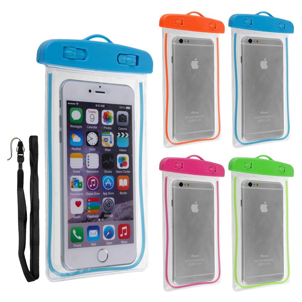 Amazon.com : 7Leon Waterproof Underwater Case Cover Bag Dry Pouch For All iPhone Samsung Any Cell Phone Size (Blue) : Sports & Outdoors