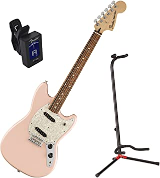 Amazon.com: Fender Offset Series Mustang PF carcasa rosa ...
