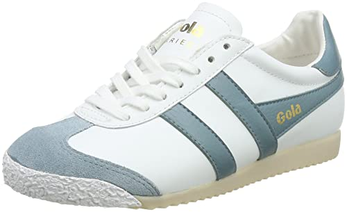 Gola Harrier 50 Leather White/Sky Blue, Zapatillas para Mujer, Blanco Xe, 37 EU: Amazon.es: Zapatos y complementos