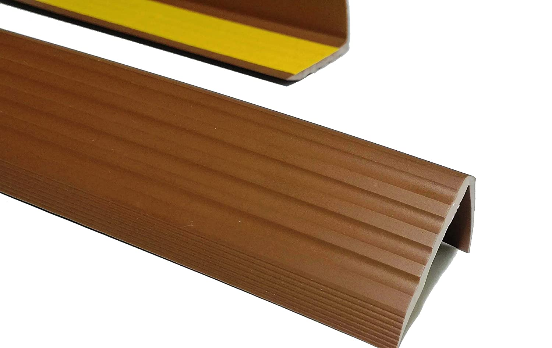 PVC Treppenkantenprofil Antirutsch-Profil Winkelprofil Selbstklebend Treppenkantenschutz 50x40mm 1,50m