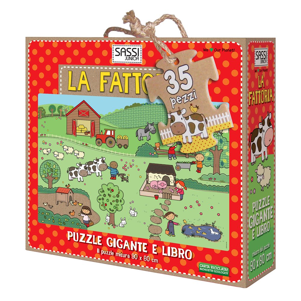 La fattoria. Puzzle gigante. Ediz. illustrata. Con libro Cartonato – 14 mag 2015 Jillian Phillips Sassi 8868601052 LETTERATURA PER RAGAZZI