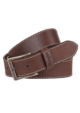 1042e0872933 Wrangler Herren Jeans Leder Gürtel Basic Stitched Belt W0081US83 light brown
