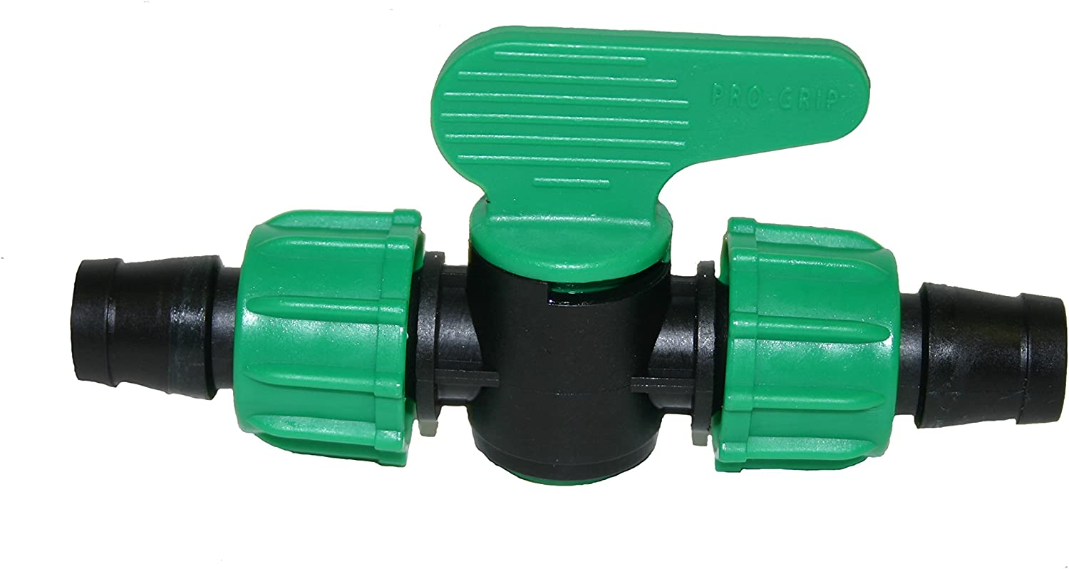Drip Tape Connector Valve 20 pack For 5//8 Drip Tape