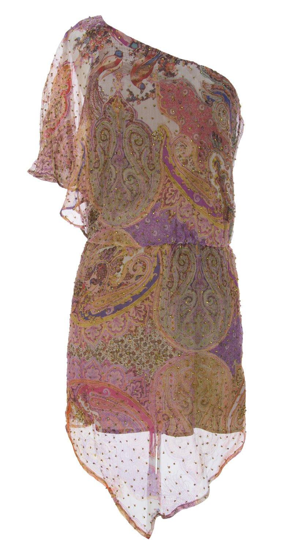 Haute Hippie Women's Graphic Sequin Dress X-Small Iris Multi