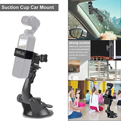 Lovewe For DJI Osmo Pocket Bracket Holder 1//4 Vehicle Windshield Suction Cup Car Mount 1//4 Bracket Holder for DJI Osmo Pocket For Car
