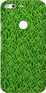 Stylizedd Google Pixel XL Slim Snap Basic Case Cover Matte Finish - Grassy Grass