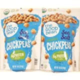 The Good Bean Organic Sea Salt Chickpeas, 18 Ounce (Pack of 2)