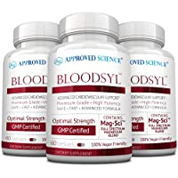 Approved Science® Bloodsyl™ - Blood Pressure and Cholesterol Support - Vegan Friendly Capsules - 3 Bottles