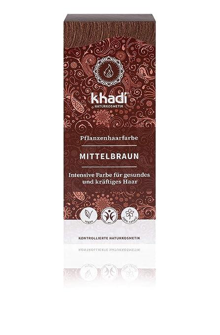 KHADI - Tinta Vegetale in Polvere Castano Medio - 100% Naturale - Per tutti  i a9c2a5443065