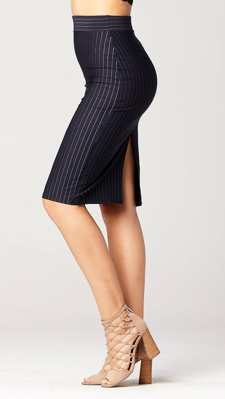 Many Colors Premium Women/'s Pencil Skirt Stretch Bodycon Midi Skirt Elastic Waist
