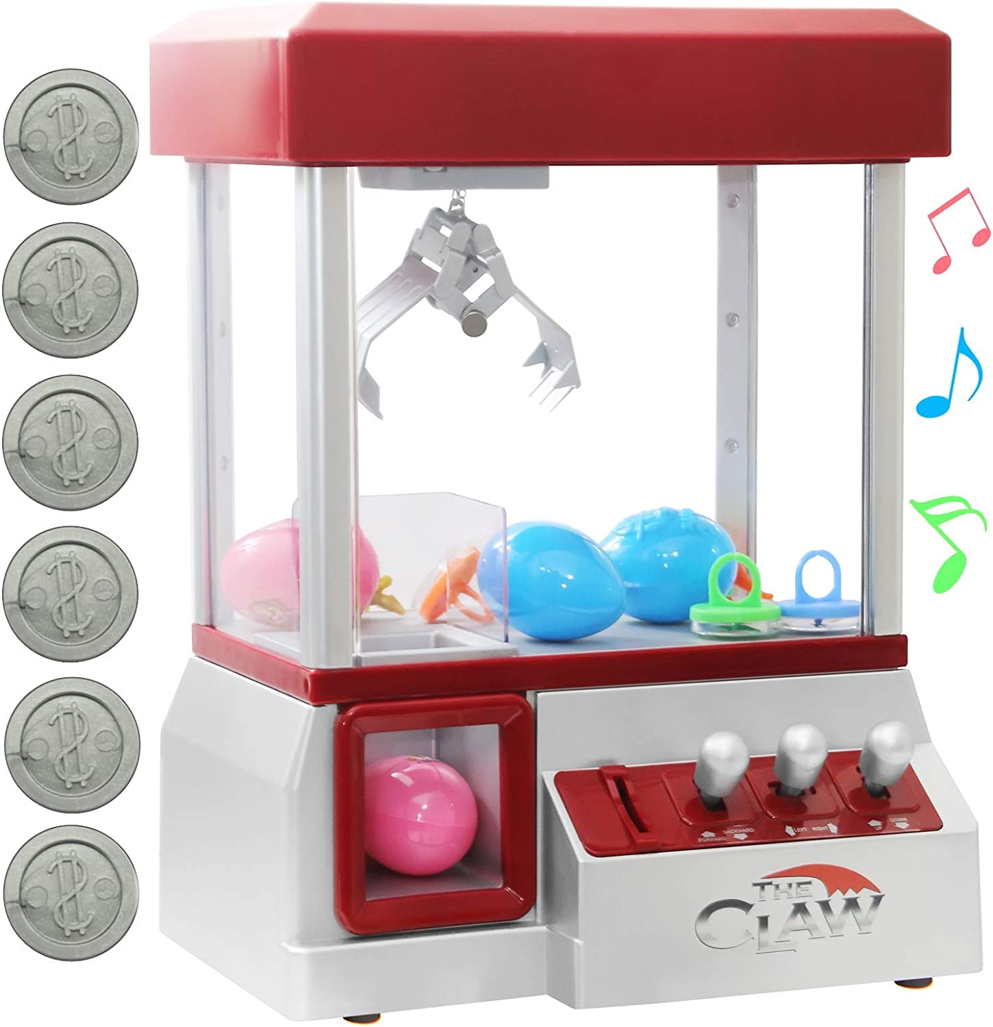 Bundaloo Claw Machine Arcade Game   Candy Grabber & Prize Dispenser Vending Machine Toy for Kids, with Music   Best Birthday & Christmas Gifts for Boys & Girls (Red Claw)