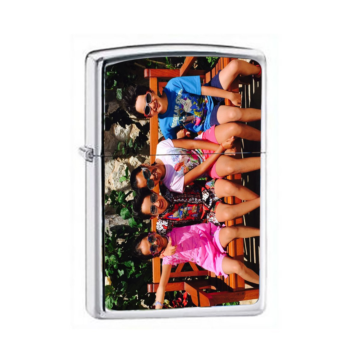 Zippo Lighter - Personalized Custom Photo High Polished Chrome Color Printed