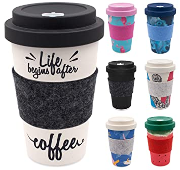 Holi Coffee To Go Becher Aus Bambus Schraubdeckel Filz