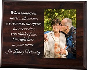 Elegant Signs Memorial Picture Frame - Keepsake Plaque That Holds a 4x6 Photo - Sympathy Gift to Tribute The Loss of a Loved One