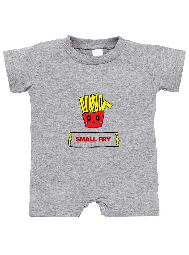 Small Bag Of French Fries Small Fry Cotton Infant Baby Jersey Tee T-Romper Oxford Gray 6 Months