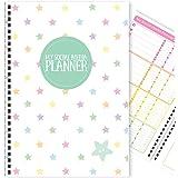 "My Social Media Planner | 12 Months | Blog Tracker & Diary | Handmade | A5 (5.8"" x 8.3"") [Rainbow Stars]"