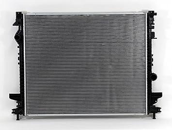 Radiador Refrigeración acoplamiento directo para/fit 13555 15 - 16 Ford Edge 2.0/2.7L Turbo 16 - 17 MKX 2.7L Turbo plástico tanque núcleo de aluminio: ...