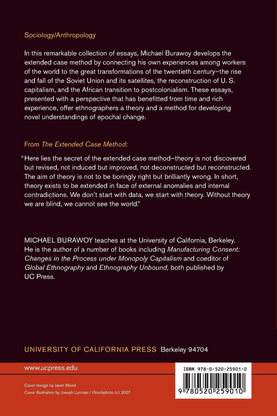 Burawoy, M: Extended Case Method: Four Countries, Four Decades, Four Great Transformations, and One Theoretical Tradition: Amazon.es: Burawoy, Michael: Libros en idiomas extranjeros