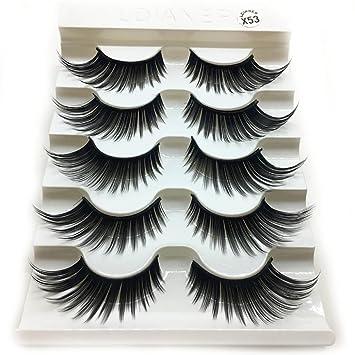 476e3900b74 Amazon.com : 1 Box Luxury 3D False Lashes Fluffy Strip Eyelashes Long  Natural Party : Beauty