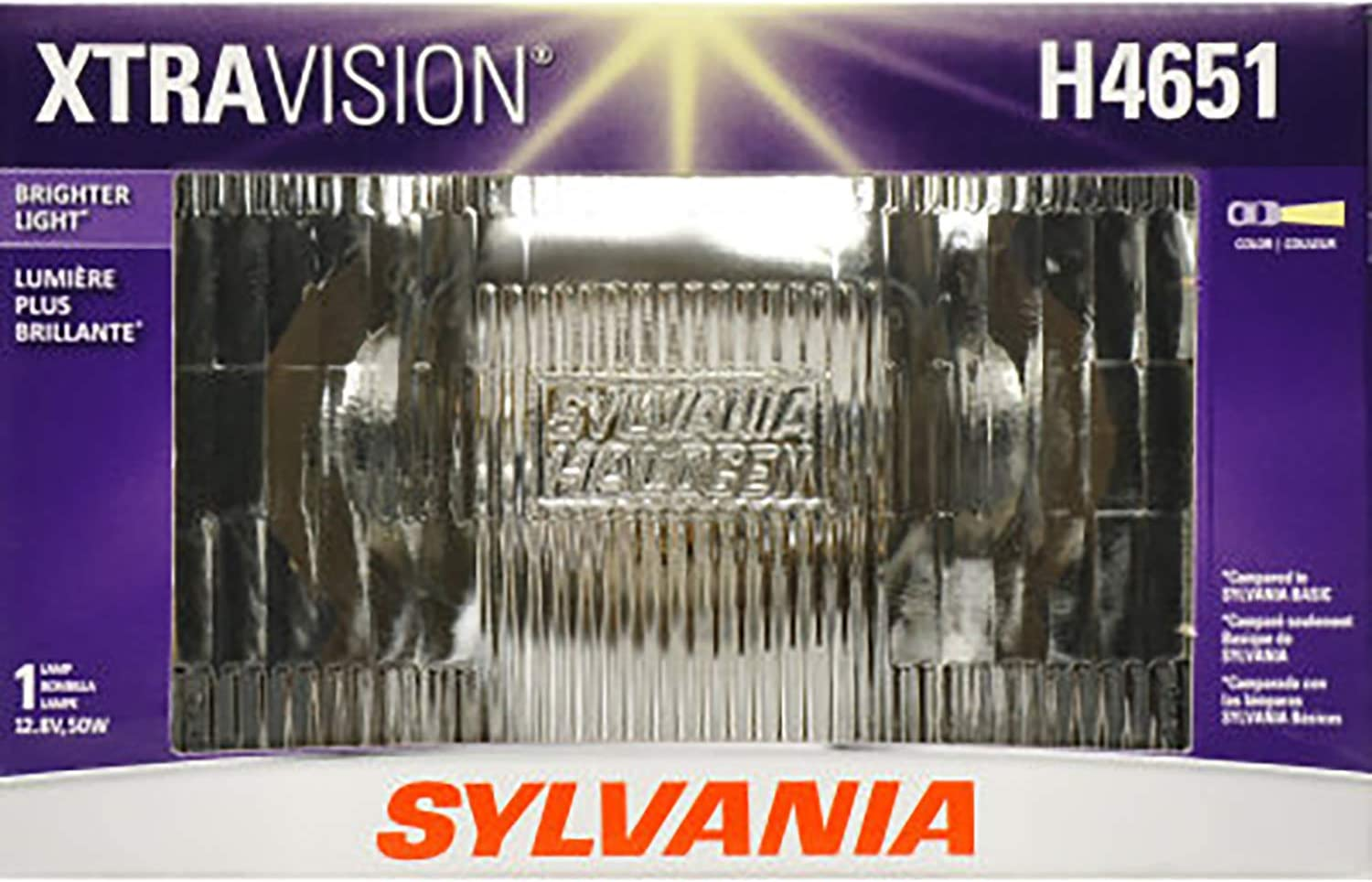 SYLVANIA - H4651 XtraVision Sealed Beam Headlight - Halogen Headlight Replacement Delivers More Downroad Visibility (Contains 1 Bulb)