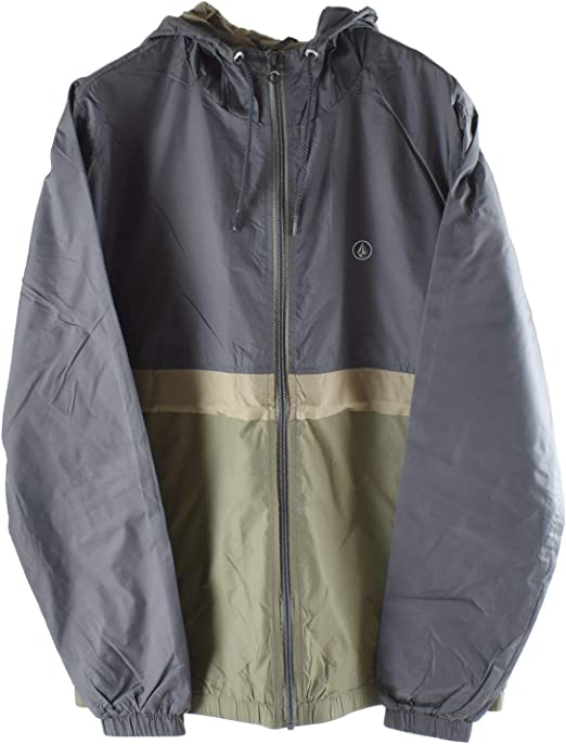 Volcom Mens Ermont Hooded Windbreaker Jacket