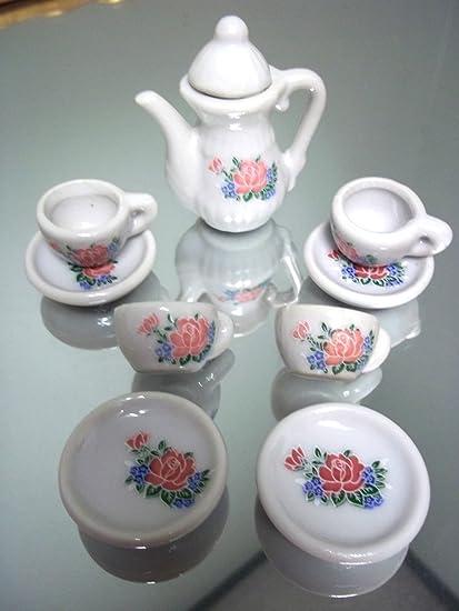 Amazoncom Mini Porcelain Tea Set 10 Pieces Tea Services Tea Sets