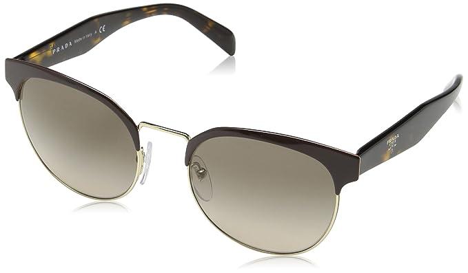 Prada Damen Sonnenbrille 0PR61TS VH85W1, Blau (Bluette/Pale Gold/Polargrey), 54