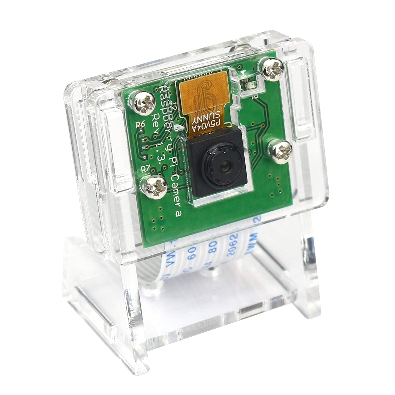 5MP 1080P Video Camera Module for Raspberry Pi 3 b+, Pi Zero W Camera with Case Flex Cable (Camera + Holder)