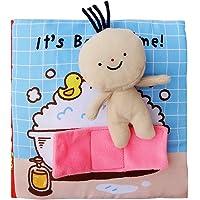 Aprendizaje temprano Libros de tela suave,Bordado:Ir al baño Tomar una ducha,Juguetes educativos para Bebé