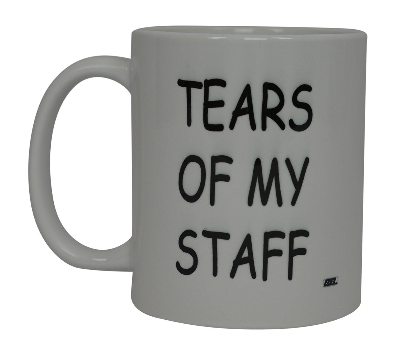 Best Funny Coffee Mug Tears Of My Staff Novelty Cup Joke Great Gag Gift Idea For Men Women Office Work Adult Humor Employee Boss Coworkers (Tears of My Staff)