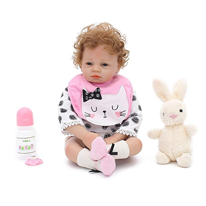 Warmdoll Realistic Reborn Baby Doll,Cute Santa Gift Set Ensemble,20 inch Gentle Touch Vinyl Like Silicone