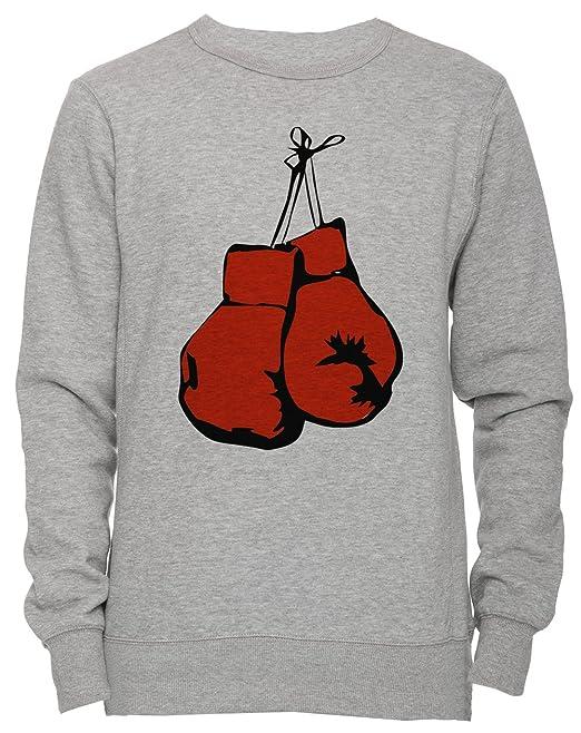 Erido Boxeo Guantes Unisexo Hombre Mujer Sudadera Jersey Pullover Gris Todos Los Tamaños Unisex Mens Womens Jumper Sweatshirt Grey All Sizes: Amazon.es: ...