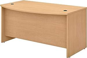 Bush Business Furniture Studio C Bow Front Desk, 60W x 36D, Natural Maple