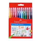 Faber-Castell Calligraphy Brush Pen 12 Colors