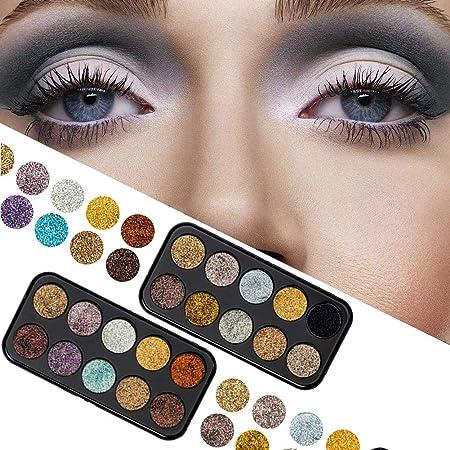 HELING IMAGIC Paleta de Sombras de Ojos con Espejo de Maquillaje 10 Colores Mate Shimmer Paleta de Sombras de Ojos de Color Rosa para niñas Paleta de Sombras de Ojos: Amazon.es: Hogar