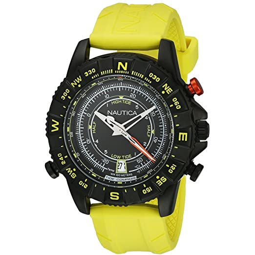Nautica reloj hombre NSR 103 Tide Temp Compass NAI21000G: Amazon.es: Relojes