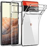 "MEZON Ultra Slim Premium Crystal Clear Case for Google Pixel 6 Pro (6.7"") – TPU Gel Back Case, Shock Absorption…"