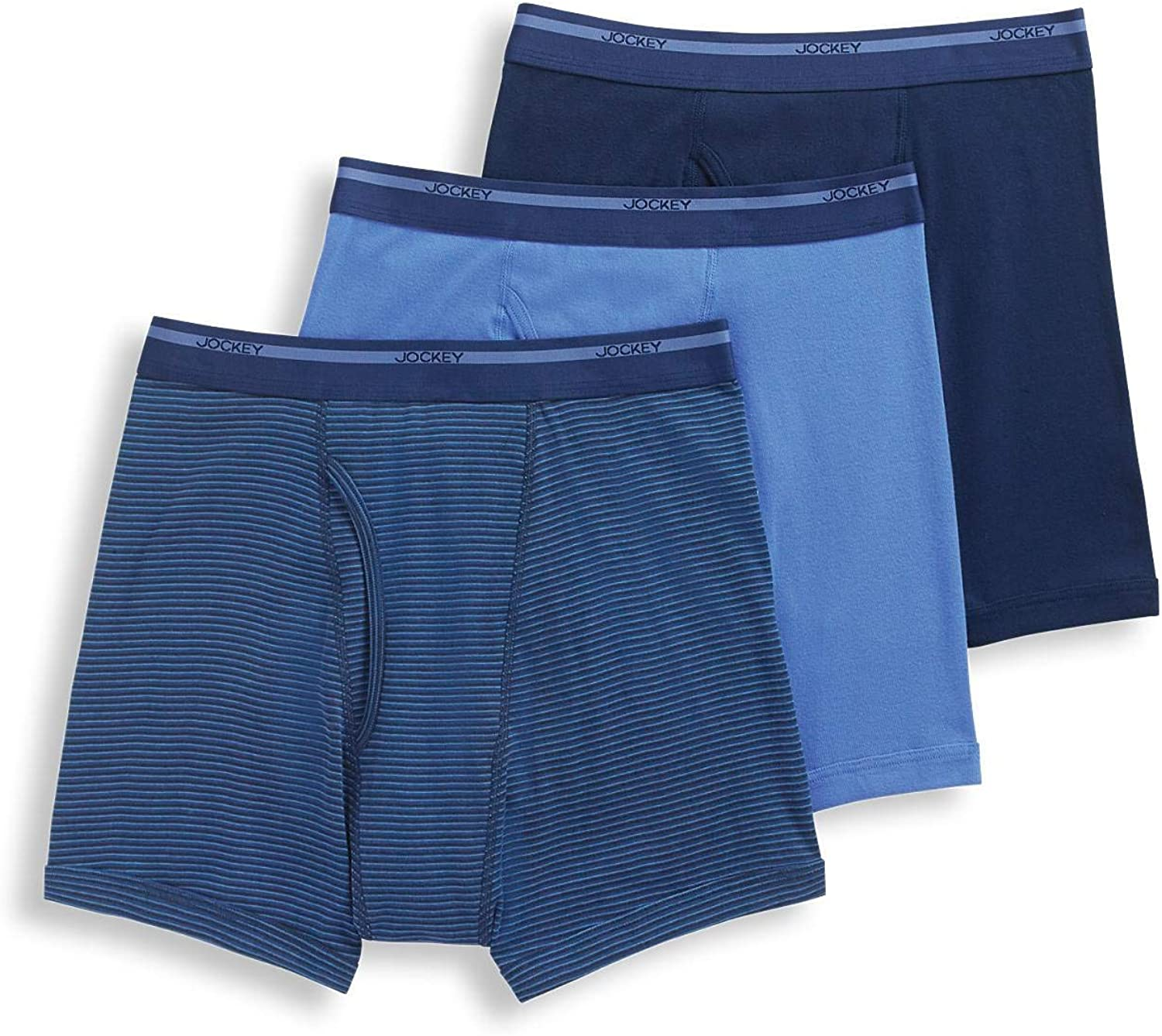 Jockey Men's Underwear Lightweight Classic Boxer Brief - 3 Pack
