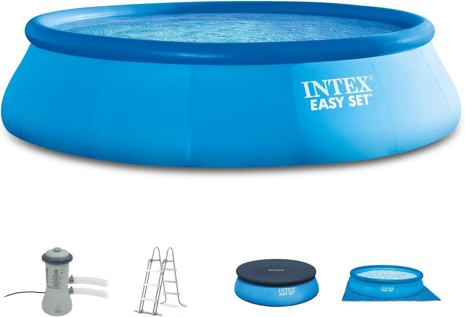 Intex 366 x 91 cm Easy Pool 289141 Juego Completo Incl. Bomba de ...