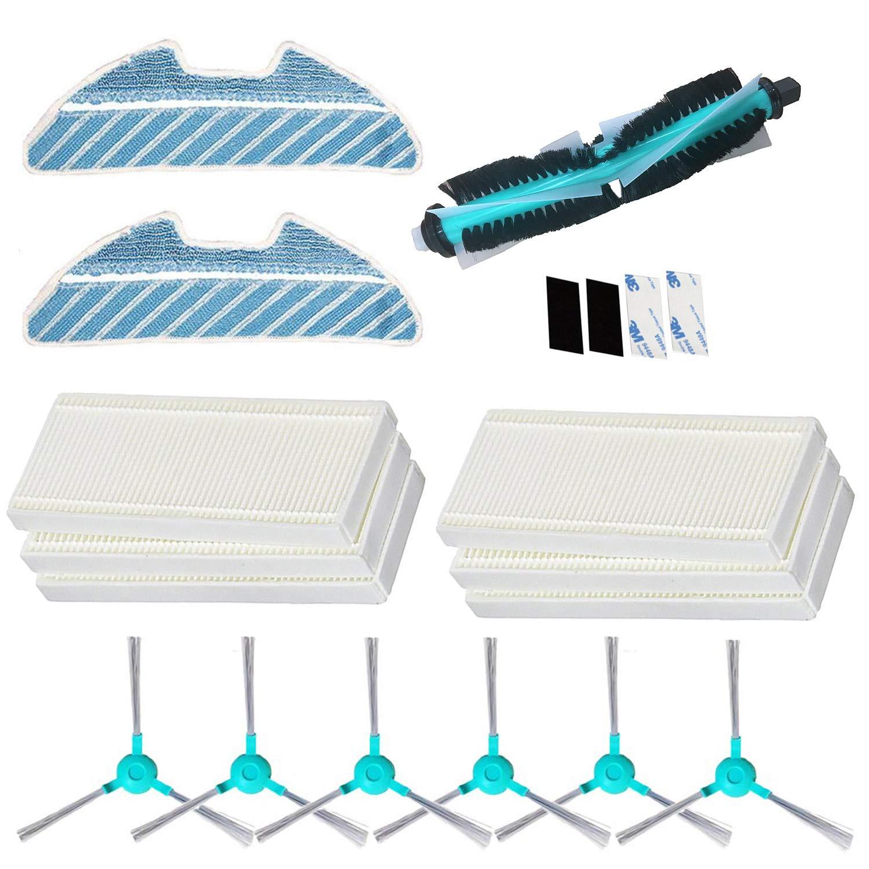 1 Cepillo Principal 6 Filtros 2 fregona 6 Cepillos Laterales REYEE Pack de 19 Kit de Accesorios de Repuesto para Cecotec Conga Excellence 1290 Conga 1390 Robot Aspiradora 4 Paster