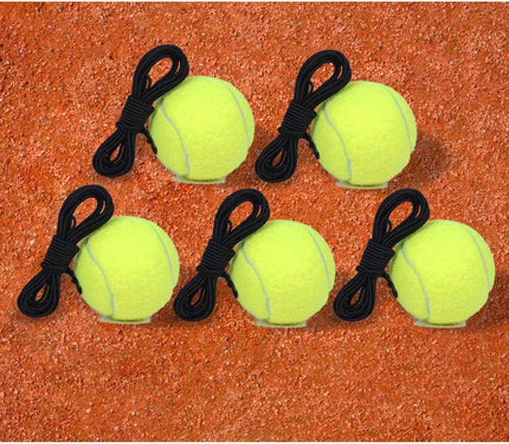 ZZTHJSM Pelotas De Tenis, con Bolsa De Malla De Transporte, con Cuerda De, Alta Elasticidad, Adecuado para Deportes Al Aire Libre, Ocio En La Playa, Juguetes para Perros,C