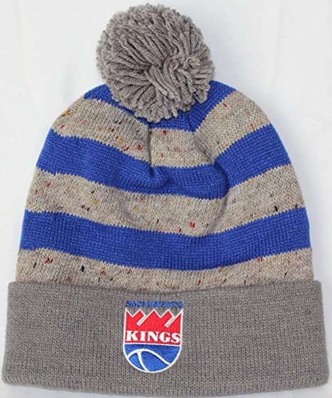 Sacramento Kings Mitchell   Ness NBA  quot Speckled Crown quot  Cuffed Knit Hat  Cappello w 2f4ef4b9c2c1