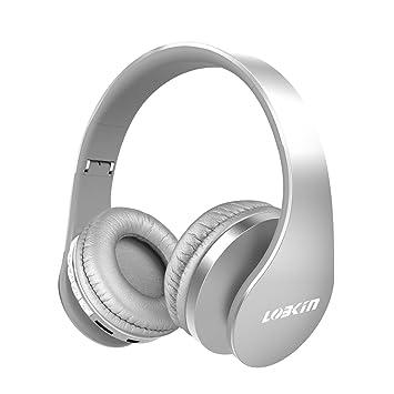 lobkin Auriculares Bluetooth de diadema, 4 en 1 inalámbrico plegable auriculares estéreo con micrófono sin hilos Bluetooth 4.1 with Micro Support SD/TF ...
