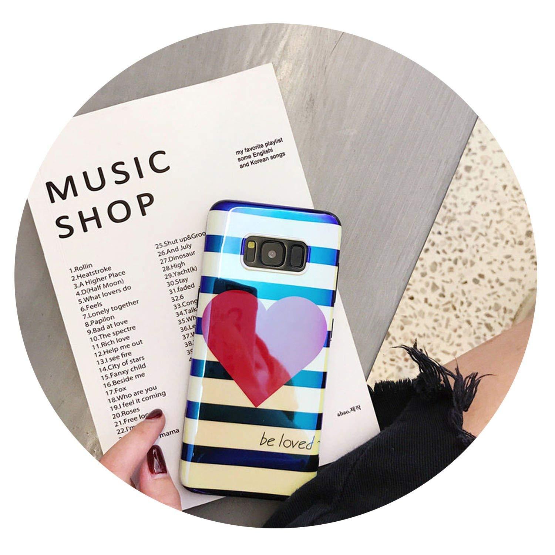 Amazon com: Simon-Stark Fashion Stripe Love Heart Phone Case