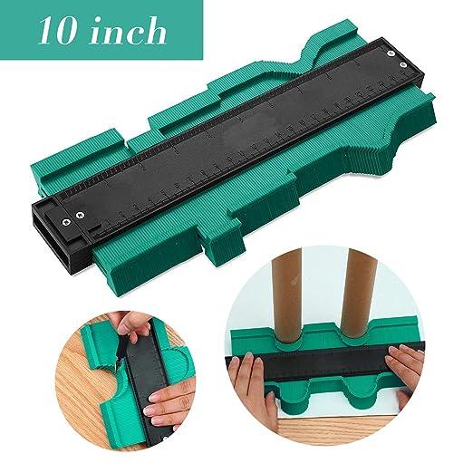 verde Medidor Contornos Medidor Contornos Ideal para Azulejos Edge Shaping Madera Medida /& Azulejos laminados