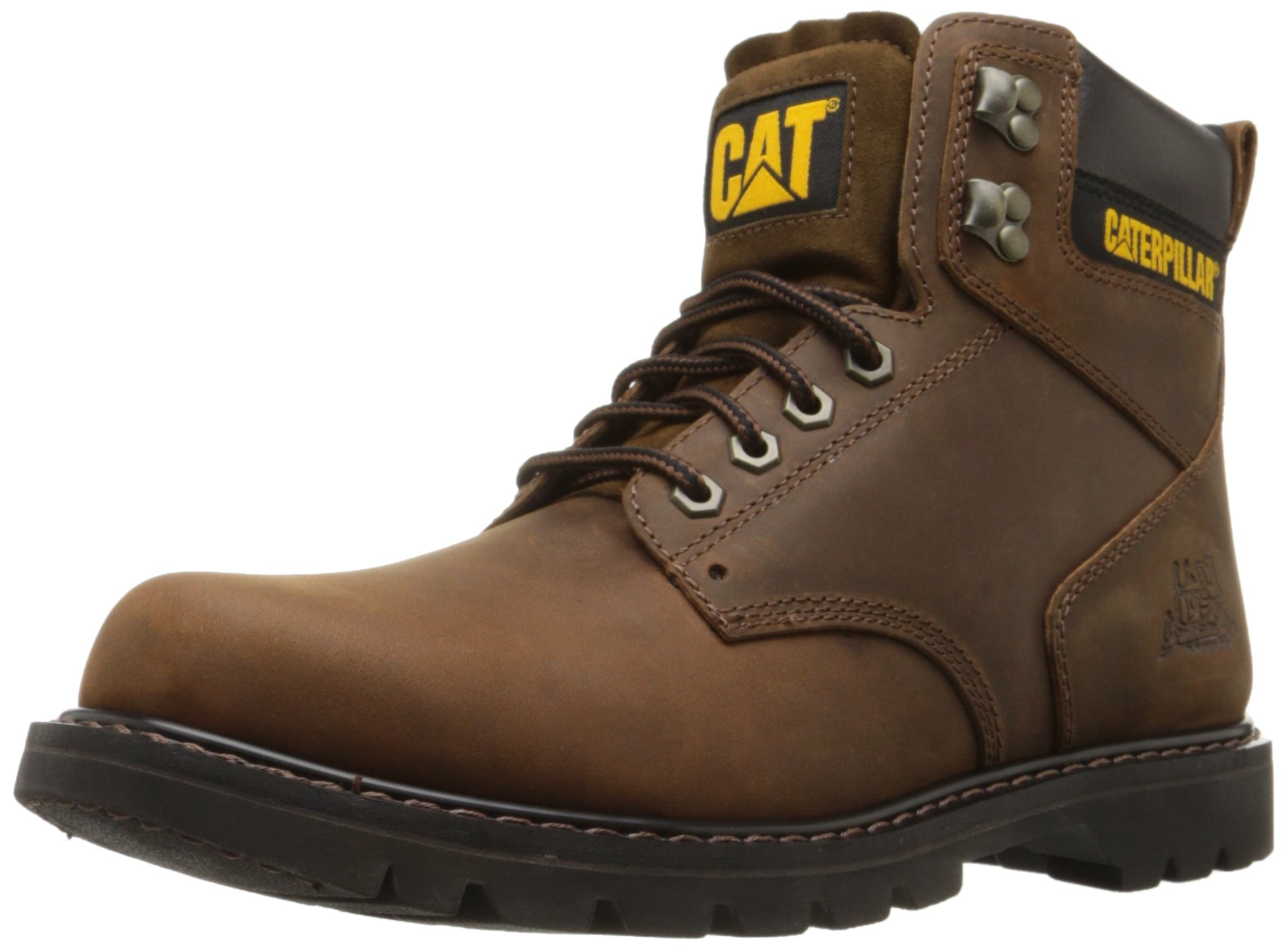 Caterpillar Men's Second Shift Work Boot,Dark Brown,7 M US