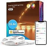 meross Smart Pro LED Strip Lights, 16.4ft RGBWW WiFi LED Strip Work with Apple HomeKit, Alexa, Google Home and SmartThings, W