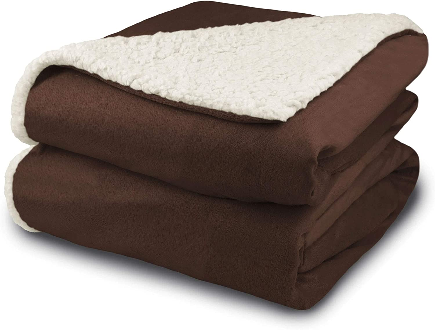 Full Sage Biddeford 6001-9051136-635 Electric Heated Micro Mink//Sherpa Blanket