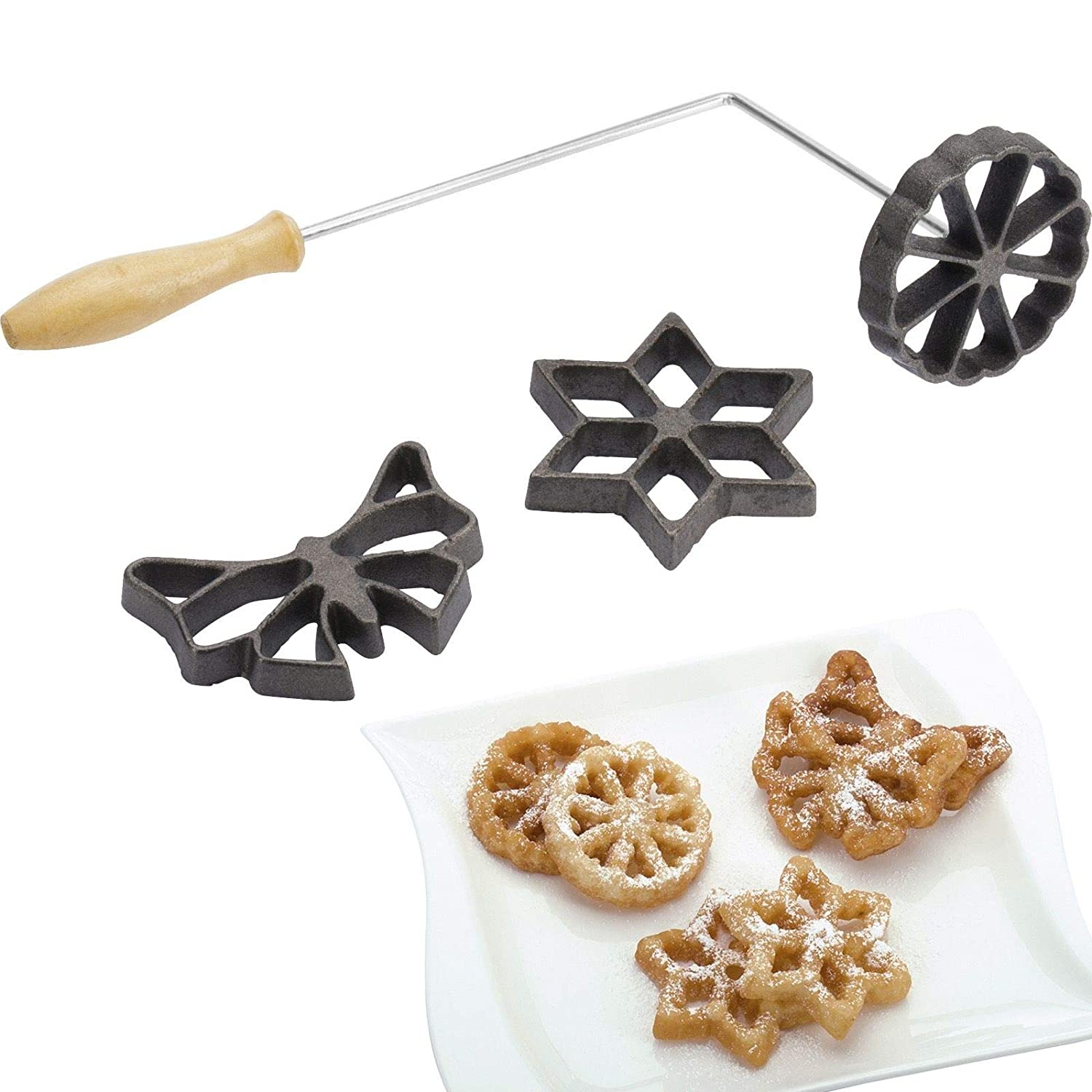 Westmark 32242260 Waffle Molds With 3 Different Designs Forms Vary Between 2 75 And 3 5 Stainless Steel