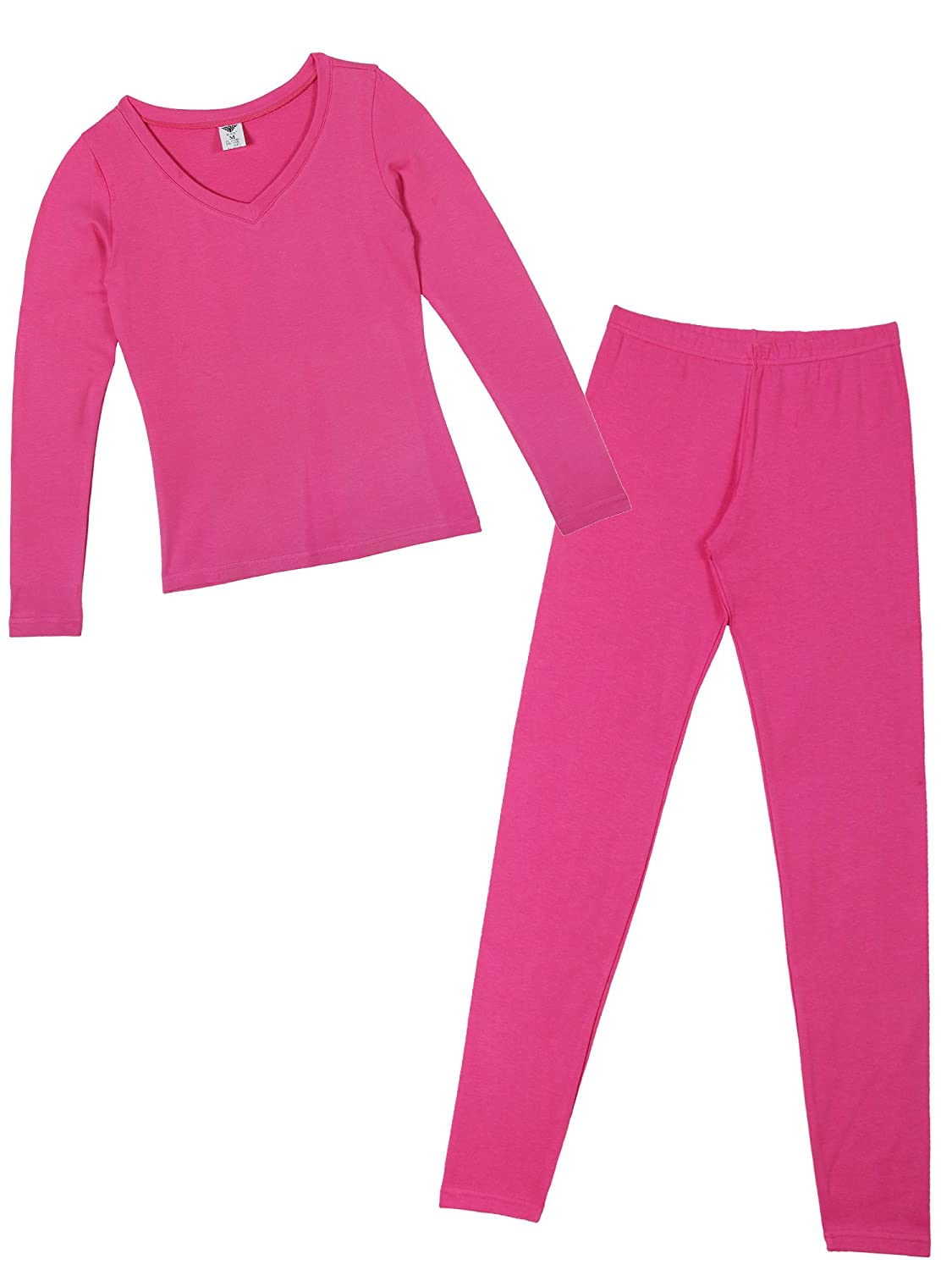9600dc2a3807 Godsen Women s Long Johns Top   Bottom Thin Thermal Underwear Set FW1002